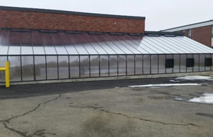 Greenhouse with high performance glazing.
